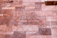 Artigo do texto de Magna Carta imagens de stock royalty free
