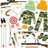 Artigos da caça ilustração do vetor