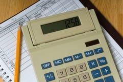 Artigos da contabilidade de negócio imagem de stock