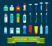 Artigos da higiene dos homens ilustração royalty free