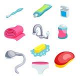 Artigos da higiene pessoal ilustração do vetor
