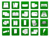 Artigos da impressão dos ícones ilustração do vetor