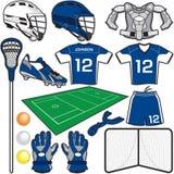 Artigos da lacrosse ilustração royalty free