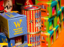 Artigos da loja do gracejo de Zonko dos chiados do feiticeiro do ` s de Weasley Foto de Stock Royalty Free