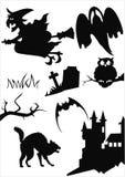 Artigos de Halloween Imagem de Stock