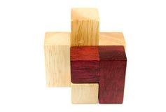 Artigos de madeira do enigma Foto de Stock