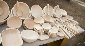 Artigos de madeira para a cozinha Fotografia de Stock