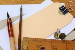 Artigos de papelaria Fotografia de Stock