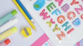 Artigos de papelaria de Baby&Kids Foto de Stock Royalty Free