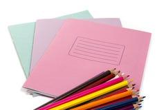 Artigos de papelaria da escola e do escritório Foto de Stock Royalty Free