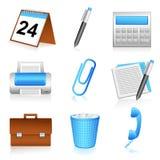 Artigos de papelaria do escritório ilustração stock