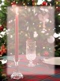 Artigos de papelaria do fundo do jantar do Natal Foto de Stock Royalty Free