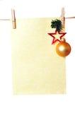 Artigos de papelaria do Natal Imagens de Stock