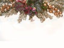 Artigos de papelaria do Natal ou cartão do lugar Imagem de Stock