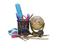 Artigos de papelaria para a escola e o negócio Imagem de Stock Royalty Free