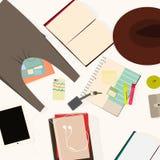Artigos de papelaria para o estudante Imagens de Stock