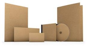 Artigos de papelaria recicl Fotografia de Stock