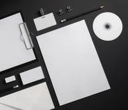 Artigos de papelaria vazios do negócio Foto de Stock