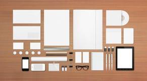 Artigos de papelaria vazios/molde incorporado da identificação Fotos de Stock Royalty Free