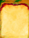 Artigos de papelaria vermelhos amarelos Imagens de Stock