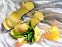 Artigos decorativos do casamento imagens de stock
