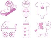 Artigos do bebé Imagens de Stock