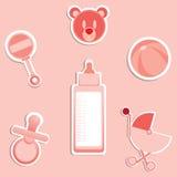 Artigos do bebê ilustração royalty free