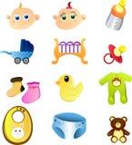 Artigos do bebê Fotografia de Stock