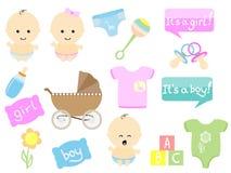 Artigos do bebê Foto de Stock