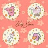 Artigos do bebé ajustados Fotos de Stock