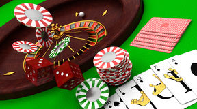 Artigos do casino Fotos de Stock Royalty Free