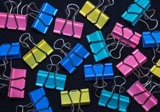 Artigos do escritório, clipes de papel Imagem de Stock
