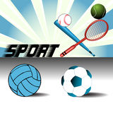 Artigos do esporte Fotografia de Stock Royalty Free
