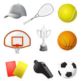Artigos do esporte ilustração stock