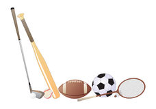 Artigos do esporte Foto de Stock Royalty Free
