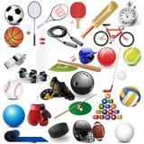 Artigos do esporte Imagem de Stock