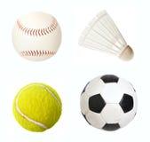 Artigos do esporte isolados Fotos de Stock