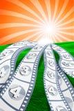 Artigos do filme na paisagem Imagem de Stock Royalty Free