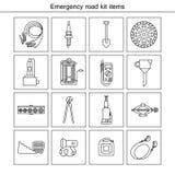 Artigos do jogo da estrada da emergência Imagem de Stock
