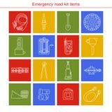 Artigos do jogo da estrada da emergência Fotos de Stock Royalty Free