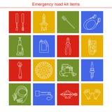 Artigos do jogo da estrada da emergência Foto de Stock