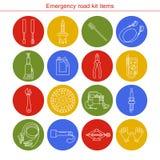 Artigos do jogo da estrada da emergência Imagens de Stock