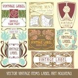 Artigos do vintage do vetor Fotografia de Stock Royalty Free