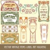 Artigos do vintage do vetor Imagem de Stock
