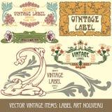 Artigos do vintage do vetor Fotos de Stock