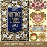 Artigos do vintage do vetor Imagens de Stock Royalty Free