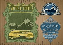 Artigos do vintage: etiqueta Art Nouveau Imagem de Stock
