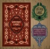 Artigos do vintage: etiqueta Art Nouveau Fotografia de Stock Royalty Free