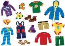 Artigos novos da roupa dos meninos Fotografia de Stock Royalty Free