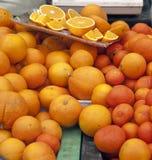 Artigos para comer laranjas Fotografia de Stock